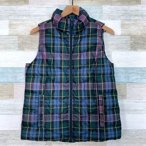 Plaid Down Puffer Vest Lands End